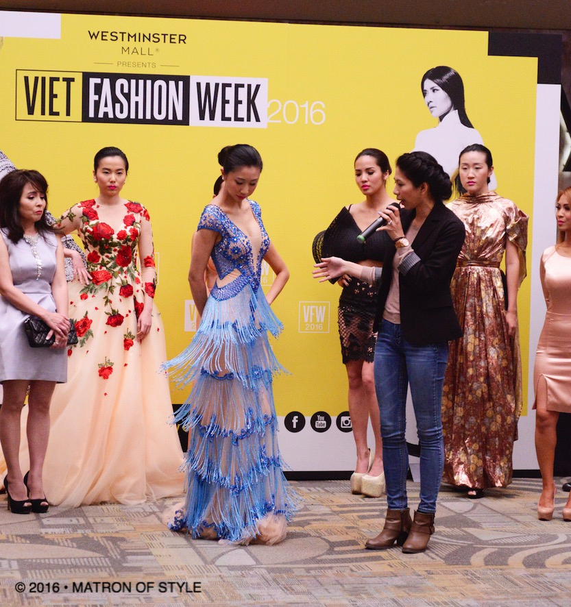 Model with Tracy Pham, Founder and Producer of Viet Fashion Week